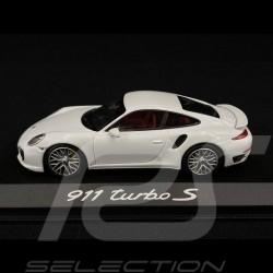 Porsche 911 type 991 Turbo S 2014 blanche 1/43 Minichamps WAP0208900E