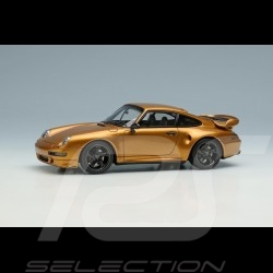 """Porsche 911 Turbo S Type 993 Classic Series """" Project Gold """" 2018 1/43 Make Up Vision VM217"""