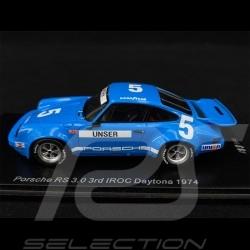 Porsche 911 RS 3.0 n° 5 3ème 3rd 3. IROC Daytona 1974 1/43 Spark US146