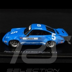 Porsche 911 RS 3.0 n° 5 3rd IROC Daytona 1974 1/43 Spark US146