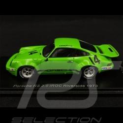 Porsche 911 RS 3.0 n°14 IROC Riverside 1973 1/43 Spark US141