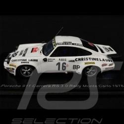 Porsche 911 Carrera RS 3.0 n° 16 Rallye Monte Carlo 1978 1/43 Spark S6640