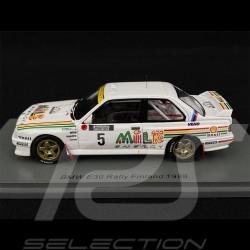 BMW E30 n°5 Rally de Finlande Finland 1988 1/43 Spark S7826