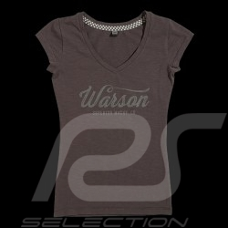 T-shirt Racing Drivers Club Style Vintage Gris fonte - femme
