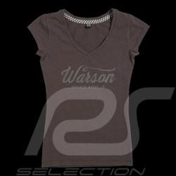 T-shirt Racing Drivers Club Vintage design Cast iron grey - women