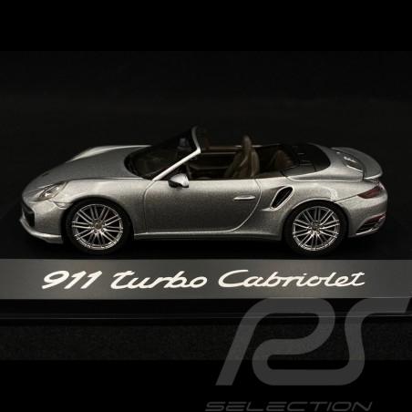 Porsche 991 Turbo Cabriolet grey 1/43 Herpa WAP0201300G