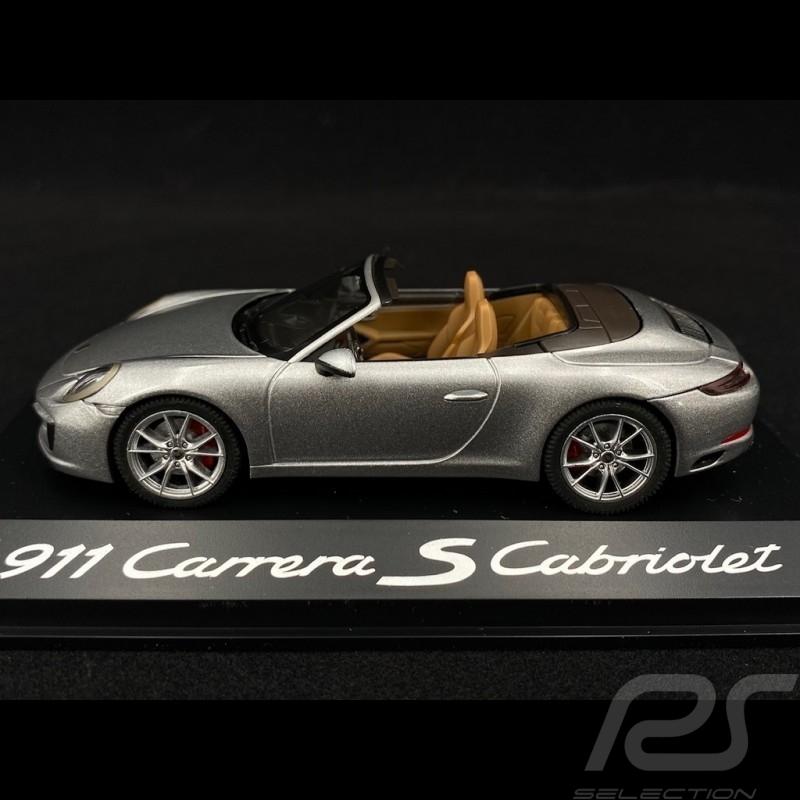 Porsche 991 Carrera S Cabriolet 2015 phase 2 silver 1/43 Herpa WAP0201260G