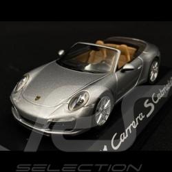 Porsche 991 Carrera S Cabrilet 2015 phase 2 silber 1/43 Herpa WAP0201260G