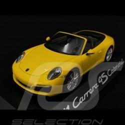 Porsche 991 Carrera 4S Cabriolet phase 2 racinggelb 2016 1/43 Herpa WAP0201090G