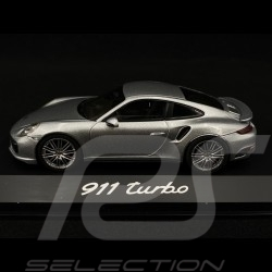 Porsche 991 Turbo II 2016 silver 2016 1/43 Herpa WAP0201320G