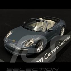 Porsche 911 type 991 Carrera Cabriolet 2015 phase 2 bleu 1/43 Herpa WAP0201140G