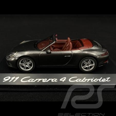 Porsche 911 Carrera 4 Cabriolet type 991 phase 2 2015 graphit grey 1/43 Herpa WAP0201010G