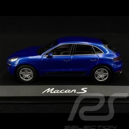 Porsche Macan S 2014 bleu saphire blue blau 1/43 Minichamps WAP0201530E