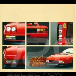 Ferrari Brochure Testarossa from 1984 to 1989 in Italian English French German 15M/10/84