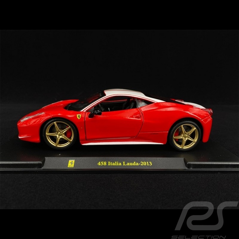 Ferrari 458 Italia Lauda 2013 Red 1/24 Bburago