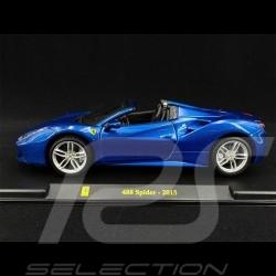 Ferrari 488 Spider 2015 Bleu blue blau 1/24 Bburago