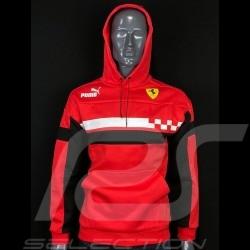 Veste Jacket Jacke Ferrari à capuche Rosso Corsa Race SDS by Puma Softshell Hoodie Rouge - homme