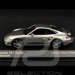 Porsche 911 Turbo Type 997 2006 Argent GT Métallique 1/43 Minichamps 943065203