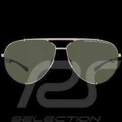 Porsche Sonnenbrille Goldenfarben / olive verspiegelte Gläser Porsche WAP0789200MD63 - Unisex