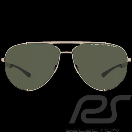 Lunettes de soleil sonnenbrille sunglasses Porsche monture or / verres mirroirs olive Porsche WAP0789200MD63 - mixte