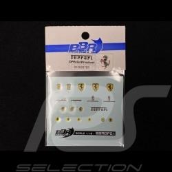 Décalcomanie emblèmes Ferrari 1/18 BBR Models BBRDF01