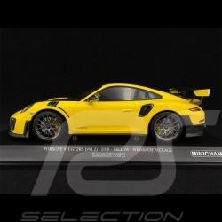 Porsche 911 GT2 RS Type 991 Weissach Package Jaune Yellow Gelb Racing 1/18 Minichamps 153068306