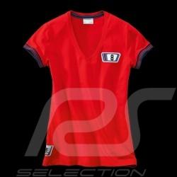 T-shirt Porsche Martini Collection 911 Carrera RSR n° 8 Rouge Red Rot WAP556D femme women damen