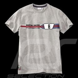 T-shirt Porsche Martini Racing Collection 911 Carrera RSR n° 8 Gris WAP557D - homme