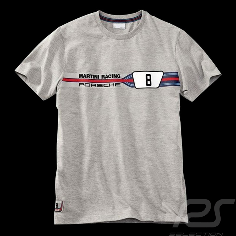 Porsche T-shirt Martini Racing Collection 911 Carrera RSR n° 8 Grey WAP557D - men