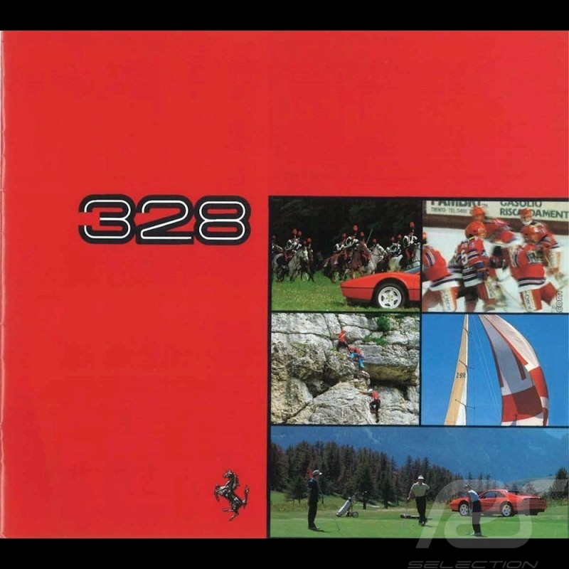 Ferrari Brochure 328 from 1985 to 1989 incomplete - missing cover  5M/01/89