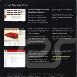 Ferrari Brochure Approved - Used car programme 2008 in English FAID1-JAN08