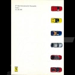 Brochure Ferrari Press-kit Salon de Genève 1997 en Italien Anglais 3M197