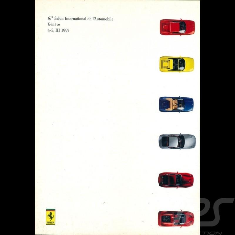 Ferrari Brochure Press-kit Salon de Genève 1997 in Italian English 3M197