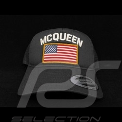 Steve McQueen Kappe Snapback Sturm grau USA Flagge - Herren