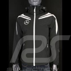 Mercedes Softshell Jacke Schwarz / Weiß Hoodie Mercedes-Benz SG7640M - Herren