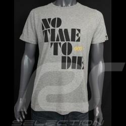 007 T-Shirt No Time To Die 2021 Graumeliert - Herren
