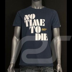 T-shirt 007 No Time To Die 2021 Bleu marine - homme