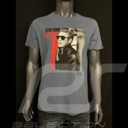 Steve Mcqueen T-shirt  Storm grey Hero Seven - men