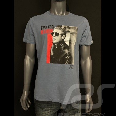 T-shirt Steven Mcqueen Gris orage Hero Seven - homme