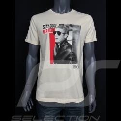Steve Mcqueen T-shirt  Beige Hero Seven - Herren
