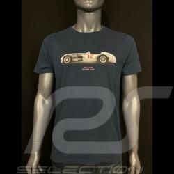 T-shirt Silver Car N°12 1954 Navy Blue Hero Seven - men