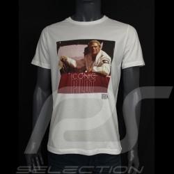 Steve McQueen T-shirt Iconic Pilot White Hero Seven - men