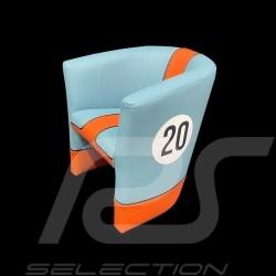 Kleiner Tubstuhl Racing Inside für Kinder n° 20 blau Racing team / orange
