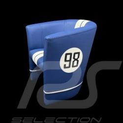 Small Tub chair Racing Inside for kids n° 98 Cobra racing blue / white