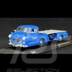 Mercedes-Benz racing car transporter 1955 Blue Wonder 1/43 - Ixo Models RAC342