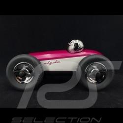 Miniature racing car Vintage de course Clyde n°3 Violet - Argent Playforever PLCLY505