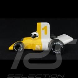 Miniature Vintage de course Verve Velocita Jacques n° 1 Jaune / Blanc Playforever PLVERVVE303