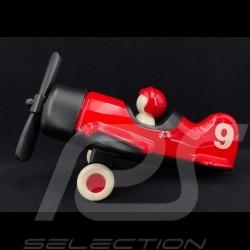 Vintage Plane n° 9 Red Black Playforever PLMIM202