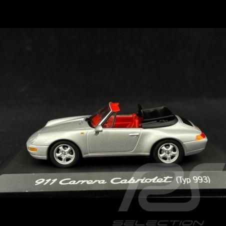 Porsche 911 Carrera Cabriolet type 993 1/43 Minichamps WAP02003997 argent silver silber