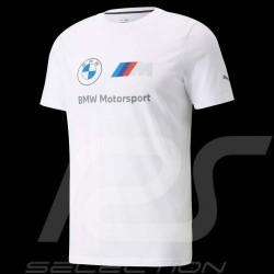 T-shirt BMW Motorsport Essential Logo Tee Puma weiß 53225302 - Herren